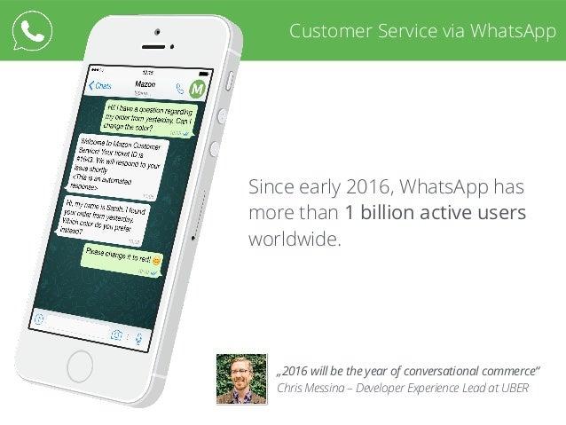 Customer Service via WhatsApp Slide 2