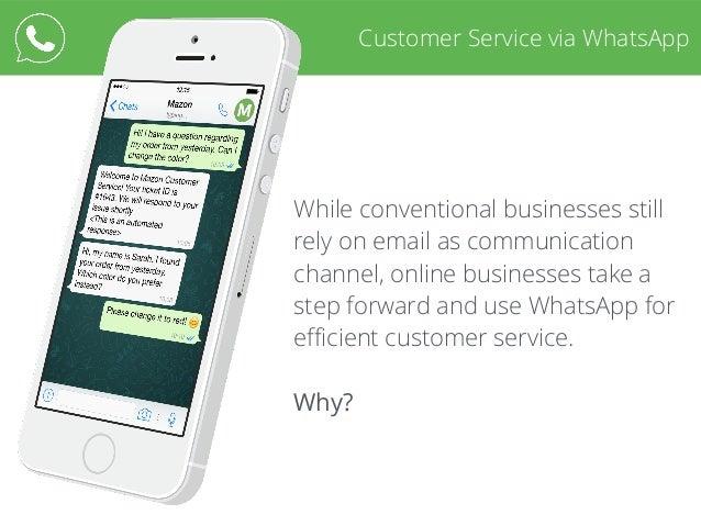 Customer Service via WhatsApp Slide 3