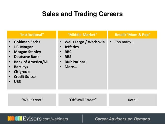 Working In Sales And Trading