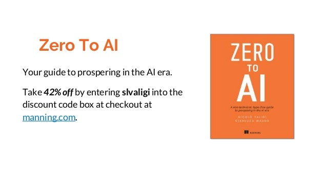 Your guide to prospering in the AI era. Take 42% off by entering slvaligi into the discount code box at checkout at mannin...