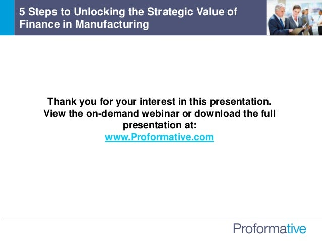 Thank you for your interest in this presentation. View the on-demand webinar or download the full presentation at: www.Pro...