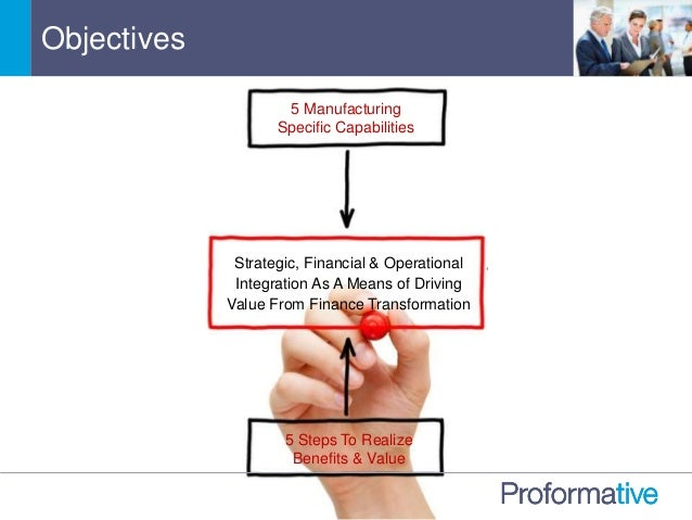 Objectives 5 Manufacturing Specific Capabilities Strategic, Financial & Operational Integration As A Means of Driving Valu...