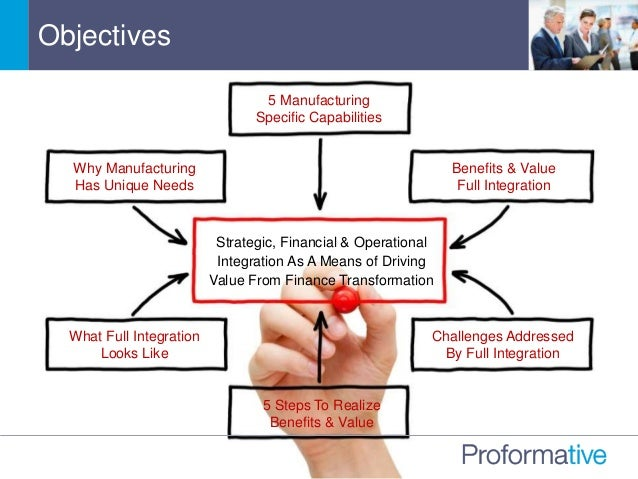 Objectives Benefits & Value Full Integration Strategic, Financial & Operational Integration As A Means of Driving Value Fr...