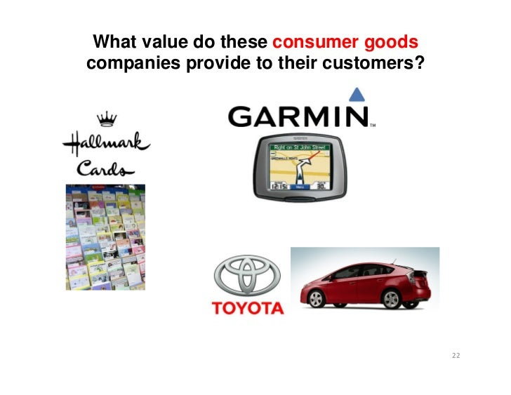 What value do these consumer goodscompanies provide to their customers?                                        22