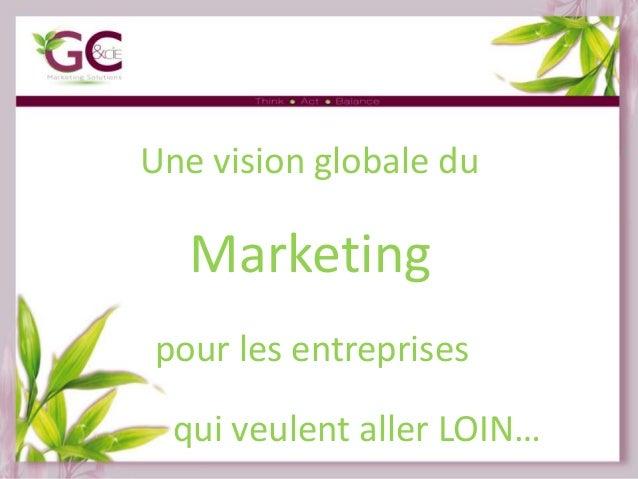 Une vision globale du  Marketing pour les entreprises qui veulent aller LOIN…