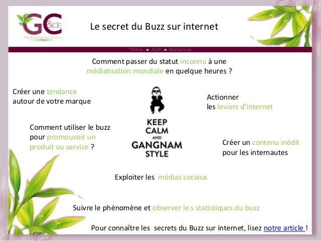 Le secret du Buzz sur internet Comment passer du statut inconnu à une médiatisation mondiale en quelque heures ? Créer une...