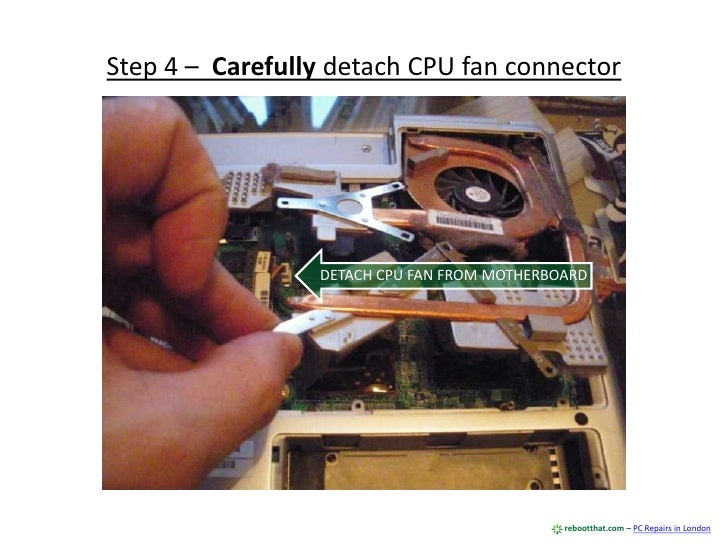 Removing Dust Inside A Laptop To Improve Performance