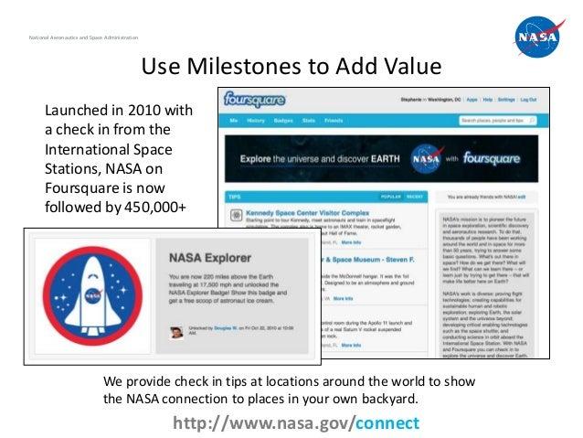 National Aeronautics and Space Administration                                                Use Milestones to Add Value  ...