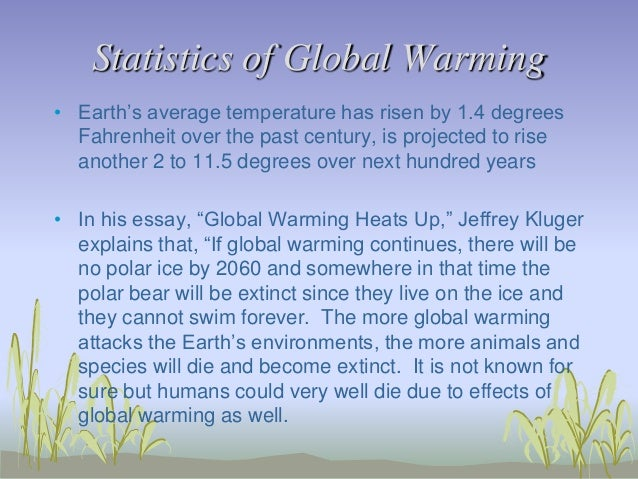 Polar bears and global warming essay body