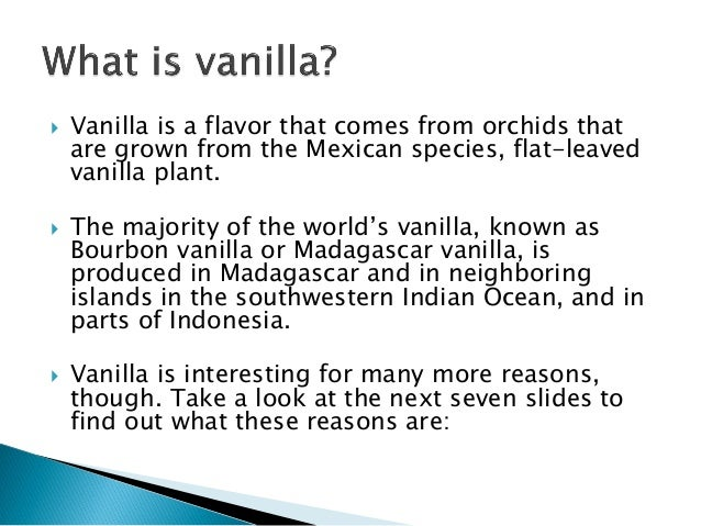Fun Facts About Vanilla - 8 cool facts about madagascar