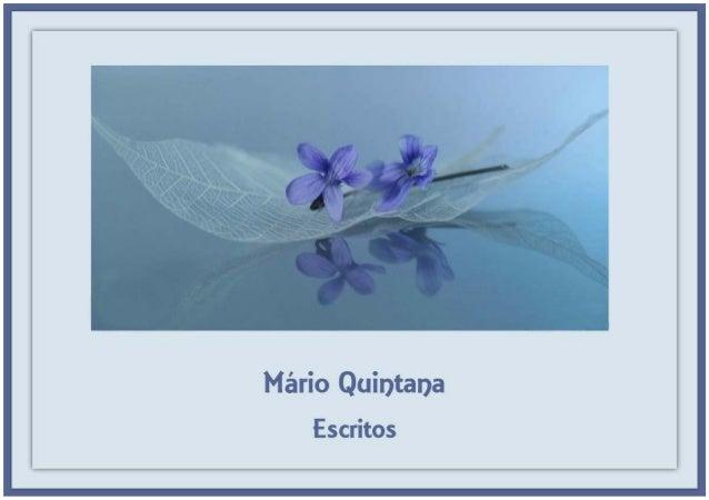 Mário Quintana-Escritos