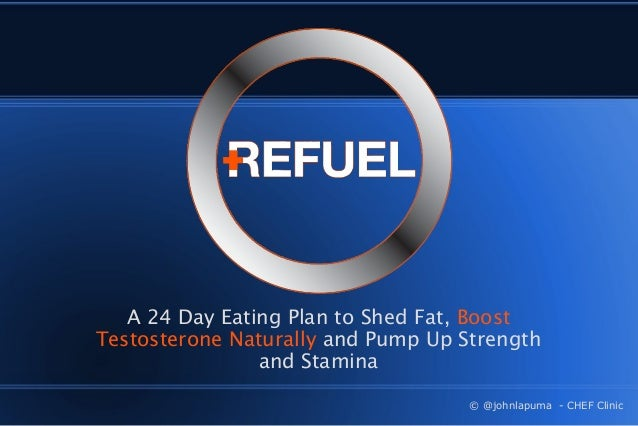 A 24 Day Eating Plan to Shed Fat, Boost Testosterone Naturally and Pump Up Strength and Stamina © @johnlapuma - CHEF Clini...