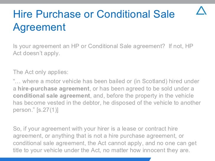 Rights available to an owner and Hirer in a Hire-purchase agreement
