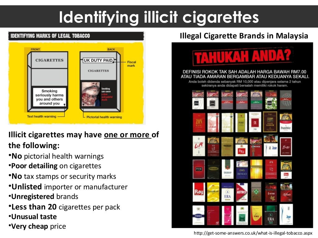 British cigarettes Marlboro brands