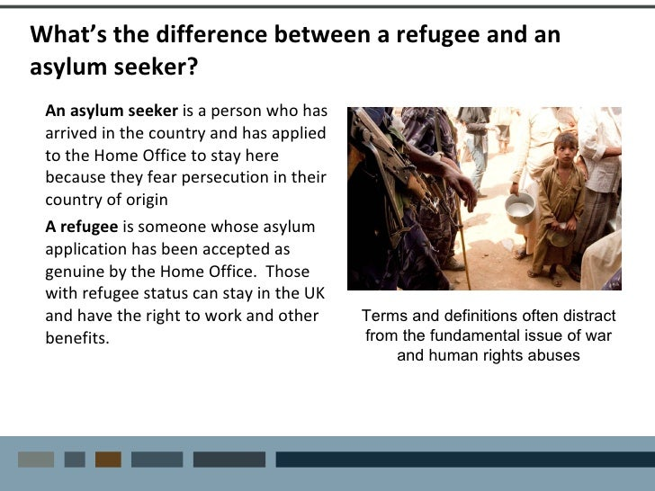 What refugee claimants receive from the government