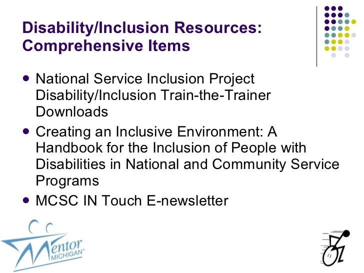 People with disabilities need inclusion essay