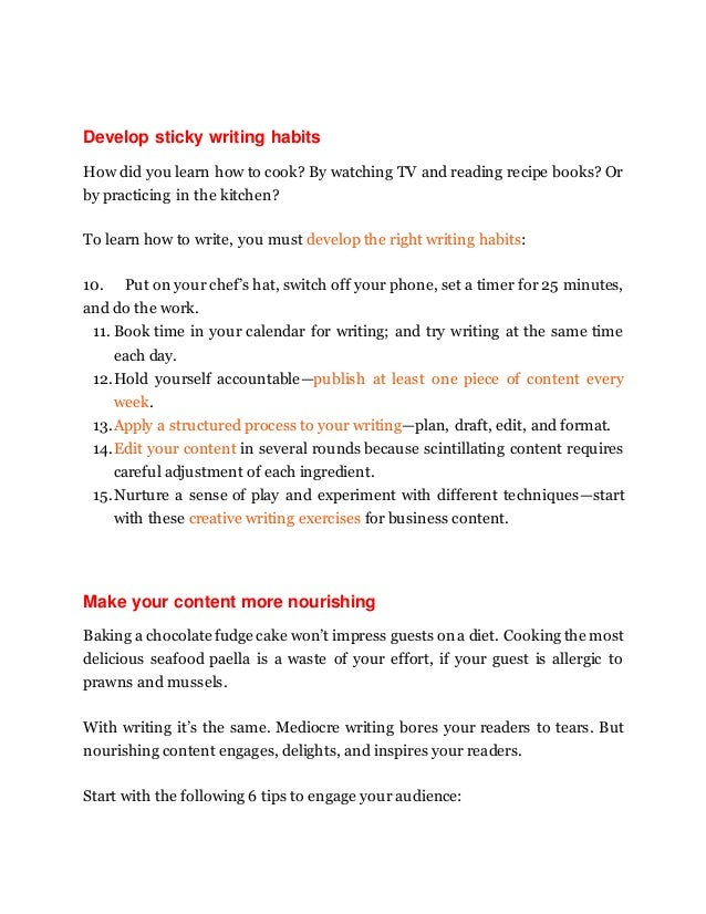 develop sticky writing habits how did you - How Did You Improve Your Skills What Have You Done To Develop Your Skills