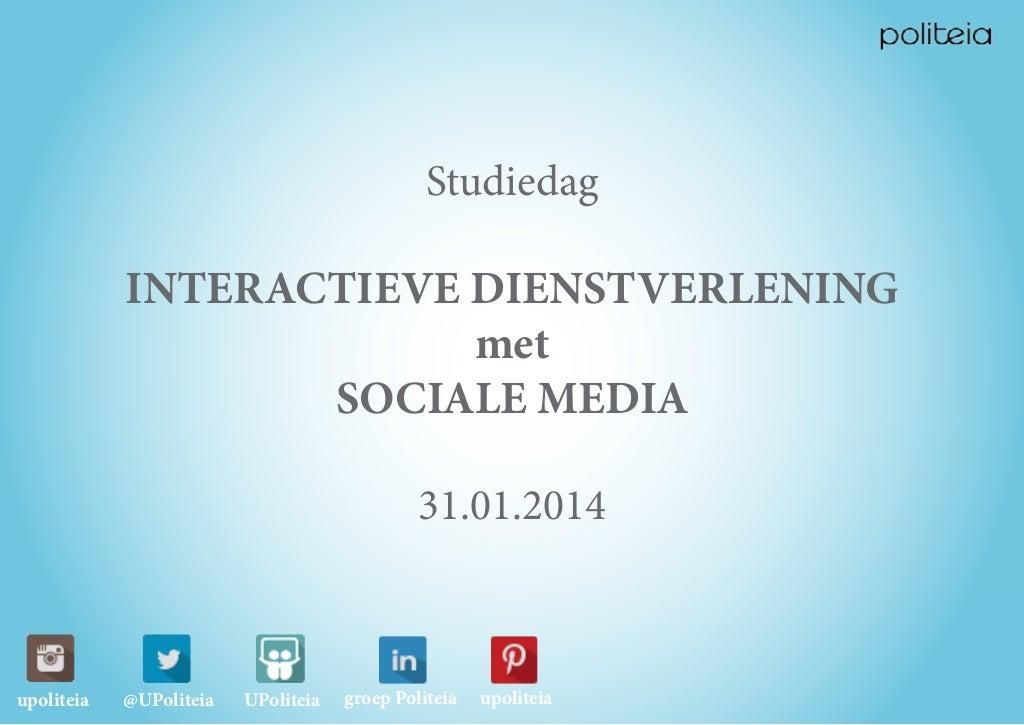 Interactieve dienstverlening met sociale media