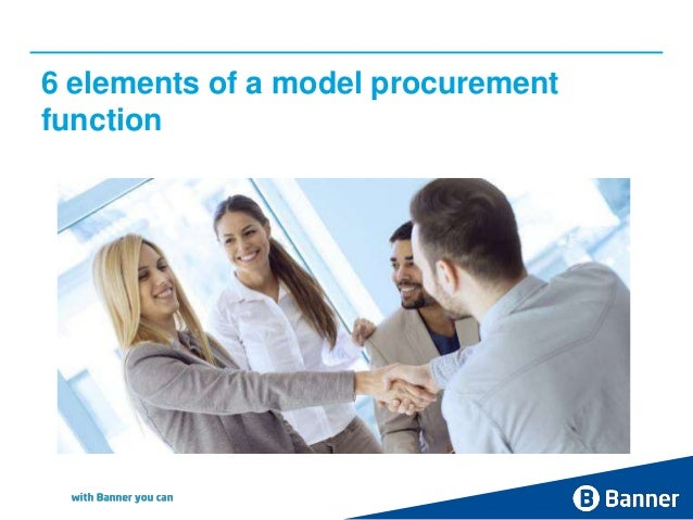 6 elements of a model procurement function