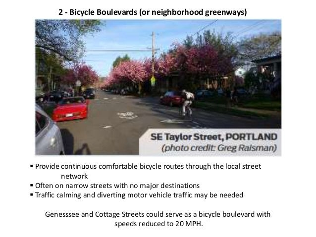 4 - Protected Bicycle Lanes (also known as Separated Bike Lanes or Cycle Tracks)  Use a combination of horizontal and ver...