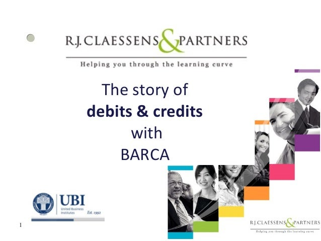 The story of debits & credits with BARCA 1