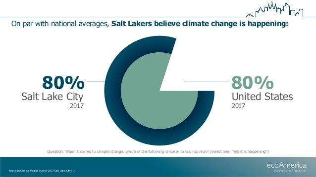 American Climate Metrics Survey 2017 - Salt Lake CIty Slide 3