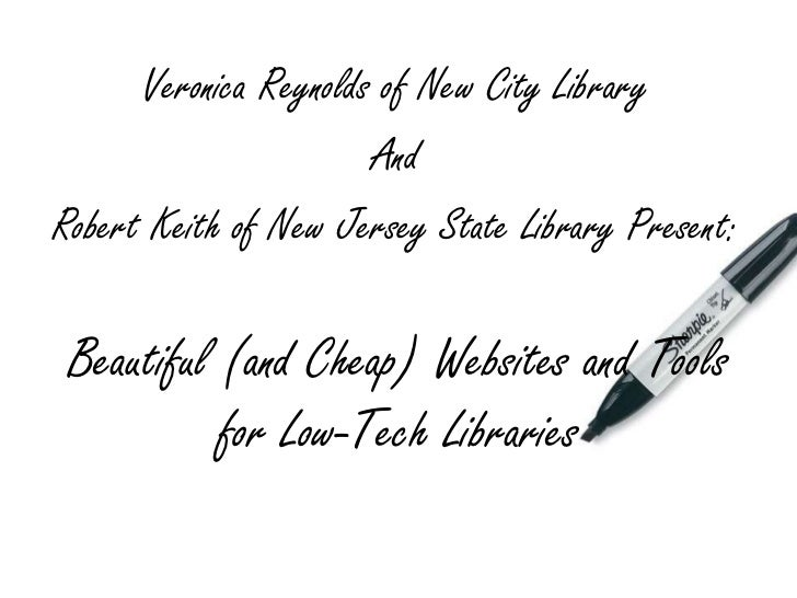 Veronica Reynolds of New City Library<br />And <br />Robert Keith of New Jersey State Library Present:<br />Beautiful (and...