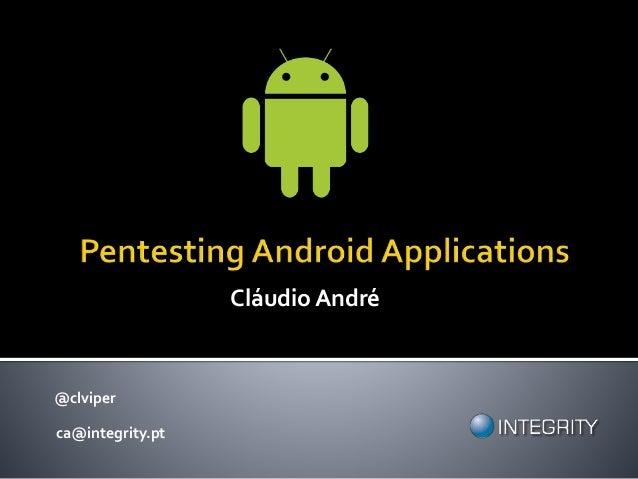 @clviper ca@integrity.pt Cláudio André