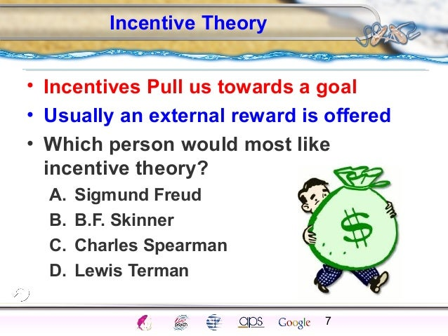 what are the themes for incentive theory of motivation Modern management theory has been built over years of study find out about the first of these: frederick taylor's scientific management theory.