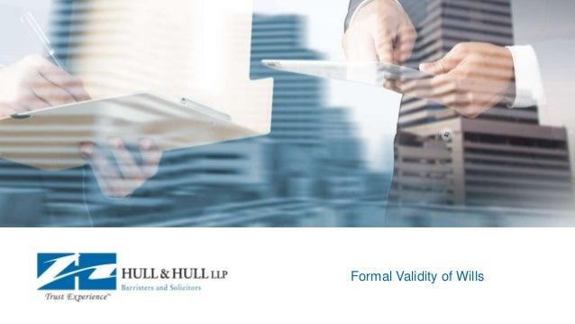 Formal Validity of Wills