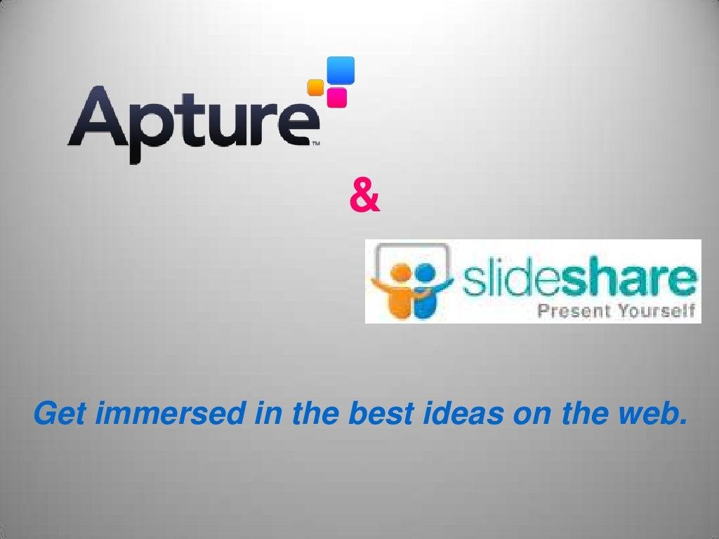 Apture + slideshare