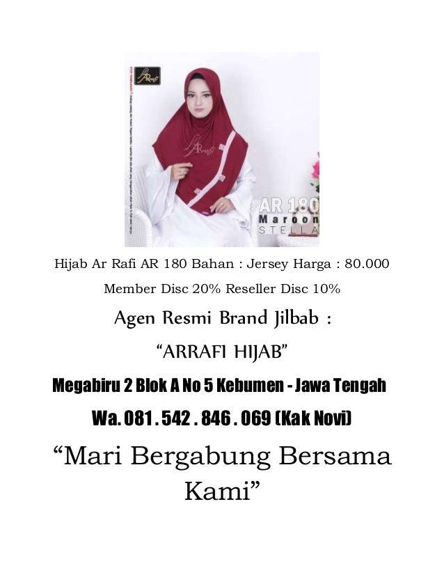 Kami Jual Jilbab Arrafi Terbaru 2018
