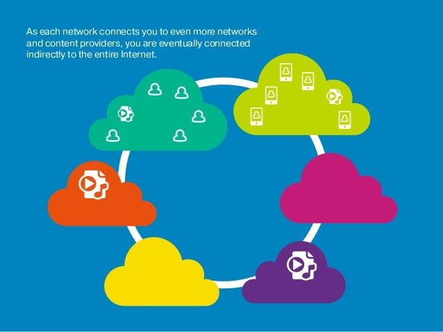 As each network connects you to even more networks and content providers, you are eventually connected indirectly to the e...