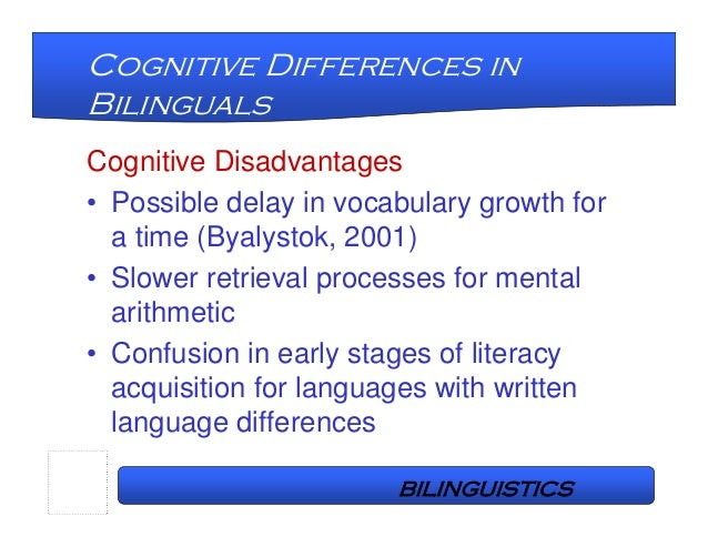 the relationship of cognition education and proficiency between l1 and l2 in bilingual children Teaching for cross-language transfer in dual language education:  direct relationship between exposure  of a bilingual's proficiency in l1 and l2 are seen as.