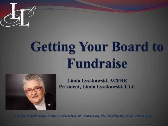 Linda Lysakowski.com: Dedicated to inspiring philanthropy and creativity