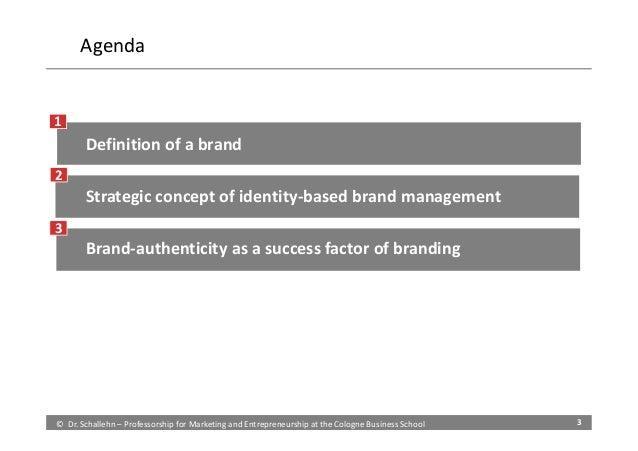 Brand authenticity and strategic brand management Slide 3