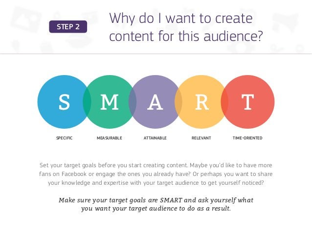 STEP 2                         Why do I want to create                         content for this audience?      S          ...