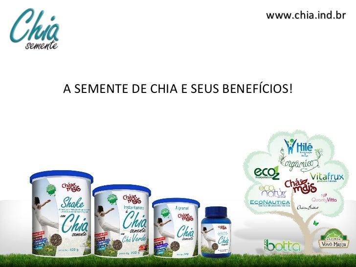 <ul><li>A SEMENTE DE CHIA E SEUS BENEFÍCIOS! </li></ul>www.chia.ind.br
