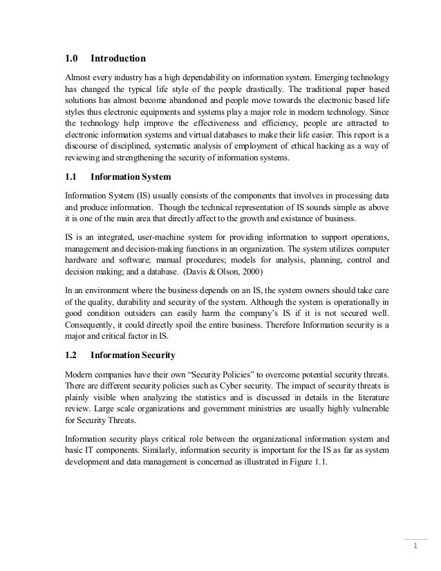 introduction to information systems security essay Cybersecurity, computer security or it security is the protection of computer  systems from theft  employee behavior can have a big impact on information  security in organizations cultural concepts  in software engineering, secure  coding aims to guard against the accidental introduction of security vulnerabilities  it is also.