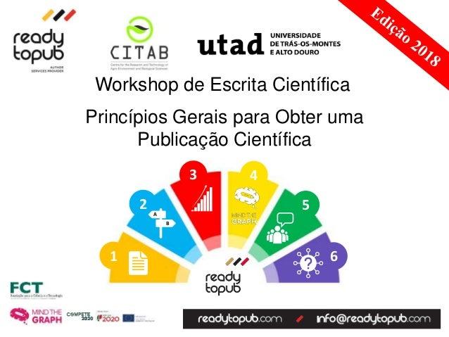 6 5 43 2 1 A B Princ�pios Gerais para Obter uma Publica��o Cient�fica Workshop de Escrita Cient�fica