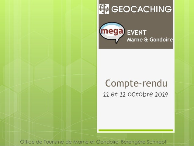 EVENT  Marne & Gondoire  Compte-rendu  11 et 12 octobre 2014  Office de Tourisme de Marne et Gondoire_Bérengère Schnepf