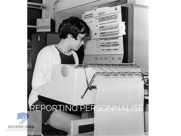 REPORTING PERSONNALISÉ