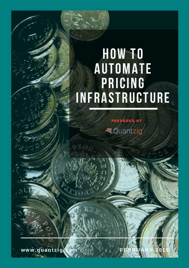 How to Automate Pricing Infrastructure   PREPARED BY www.quantzig.com FEBRUARY 2019