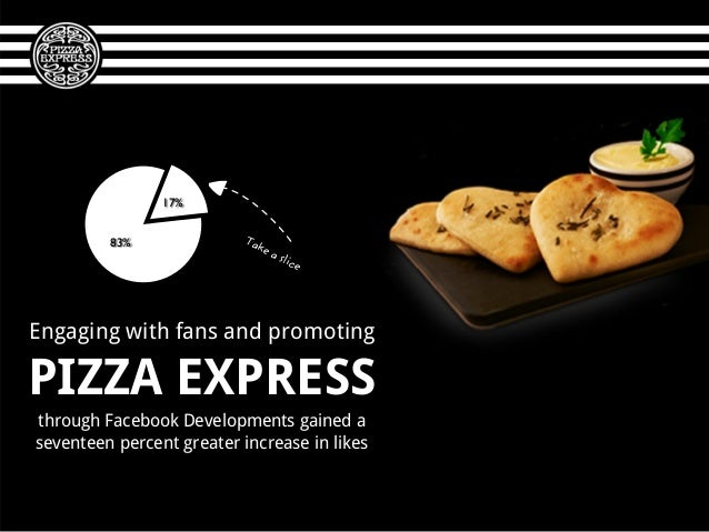 Engaging with fans and promotingPIZZA EXPRESSthrough Facebook Developments gained aseventeen percent greater increase in l...
