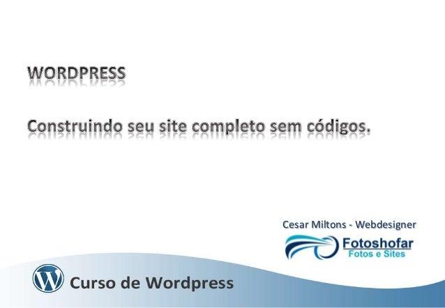 Cesar Miltons - Webdesigner