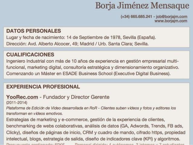 cv presentation in english and spanish