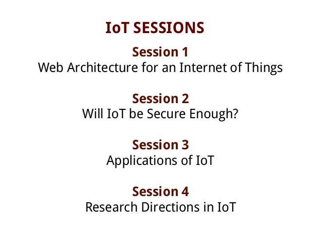internet of things applications pdf