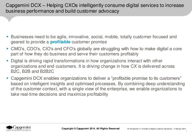 Capgemini DCX – Helping CXOs intelligently consume digital services to increase business performance and build customer ad...