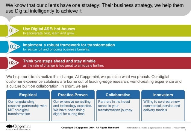We know that our clients have one strategy: Their business strategy, we help them use Digital intelligently to achieve it ...