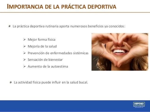 IMPORTANCIA DE LA PRÁCTICA DEPORTIVA La práctica deportiva rutinaria aporta numerosos beneficios ya conocidos:  Mejor for...